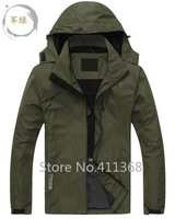 Free shipping 2015 spring autumn new outerwear fashion men's hoodies sports coat brand outdoor waterproof charge clothes jacket