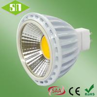 3 years warranty COB 5W MR16 dimmable led bulb 2700k Shenzhen supplier