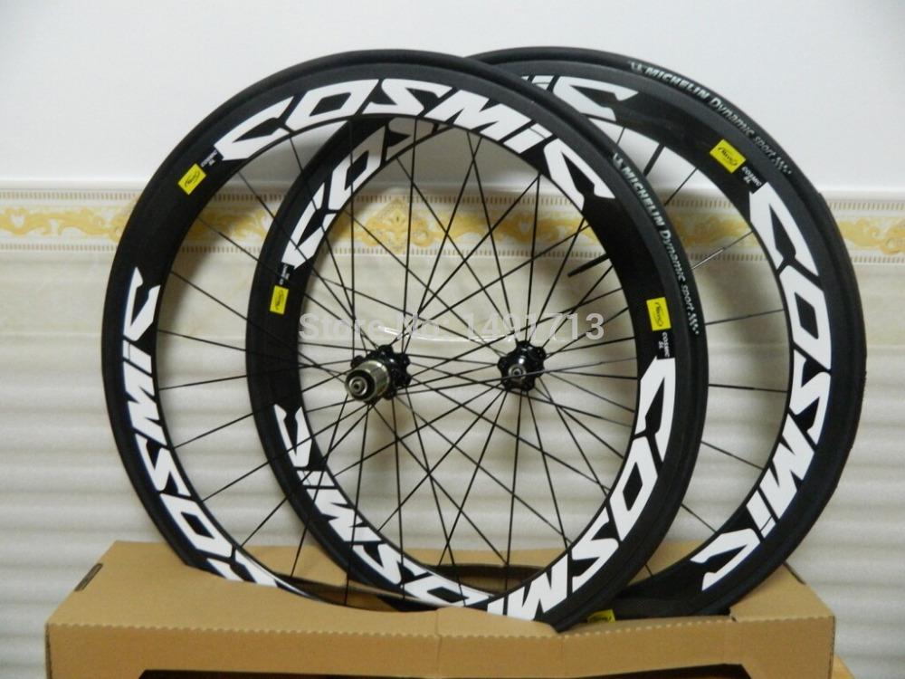 2015 Mavic wheels carbon clincher wheelset, 700C Road bike carbon ...