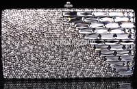 2014 Crystals Evening bag,Women Fashion Hard Case Metal Purses Party Handbags , tokay,CB6021-1