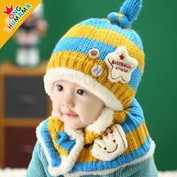 Wholesale and Retail Fashion baby hat baby cap  hat headress scarf &cap set winter cap design  winter baby hat