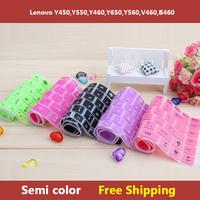 Semi Color Laptop Keyboard Cover Skin Protector for Lenovo IdeaPad Y450,Y550,Y460,Y650,Y560,V460,B460