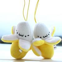 10 pieces Whosesale Cartoon Stuffed Banana Doll Plush toys wedding gift Phone Charm