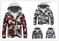 Men's parks 2014 New Winter Camo Parka Coat Plus Size Hooded Jacket Coats Outwear Size m l xl xxl xxxl