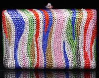 2014 Crystals Evening bag,Women Fashion Hard Case Metal Purses Party Handbags ,CB370B