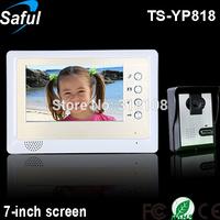 """The lowest price 7""""TFT-LCD wired video door phone doorbell ir intercom"""