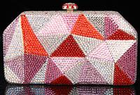 2014 Crystals Evening bag,Women Fashion Hard Case Metal Purses Party Handbags , CB6041-1