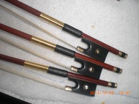 3 PCs Gold Color Quality Brazil Wood Violin Bow 4/4