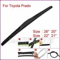 Free shipping car wiper blade for Toyota Prado Soft Rubber WindShield Wiper Blade 2pcs/PAIR deflector window