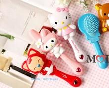 2PCS Hair Comb ; Kawaii Cartoon MIX Hair Comb ; Lady Comfortable Touch Female Beauty Makeup Cosmetics TOOL Comb(China (Mainland))