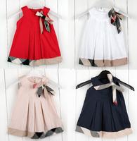 Baby girls dresses  kids plaid summer dress children's princess baby sleeveless plaid dress for 1-5Yrs Retail