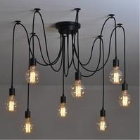 8 arm edison bulb Pendant Chandelier Modern Vintage Loft Bar Restaurant Bedrooms E27 Art Pendant industrial lamp