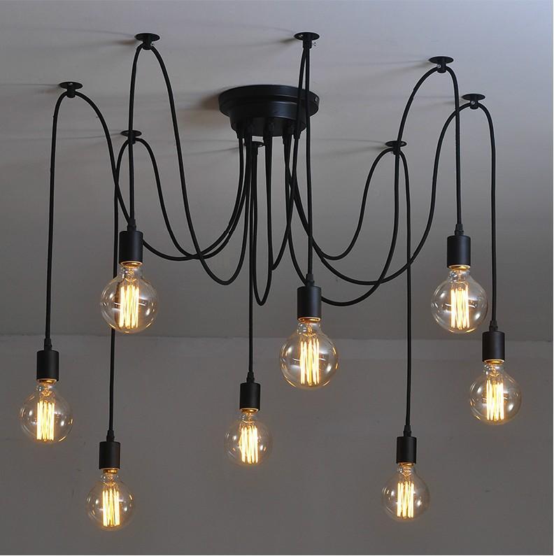 8 arm edison bulb Pendant Chandelier Modern Vintage Loft Bar Restaurant Bedrooms E27 Art Pendant industrial lamp(China (Mainland))