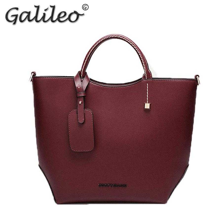 2015 Autumn Women handbag Brand design classic Vintage Bucket Bags lady's wine red black brown luxury large capacity totes(China (Mainland))