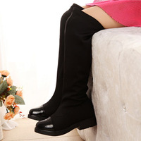 2014 Hot sell Spring and autumn girls shoes fashion knee stretch fabric boots tall canister boots fashion