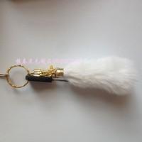 Fox fur wool bags accessories car hangings keychain plush hair ball pendant multicolor