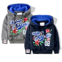 Boutique brand Child boy coat child spring and autumn 2014 children's clothing pullover sweatshirt  100% cotton casual top