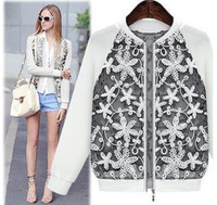 NEW high quality winter coat and jacket for women lady casual Long sleeve lace Coat Jacket overcoat free shipping plus size