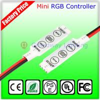 DC 12V Mini 3keys LED RGB Controller DC plug For 3528 5050 SMD LED Strip Light , Speed & Color & Brightness Controlling
