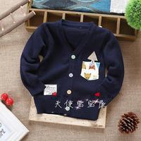 2014 children's clothing autumn male child brief yarn fashion sweater child cardigan baby boy sweater