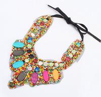 Free shipping 2014 New women necklace fashion false collar necklace retro exotic ethnic individuality