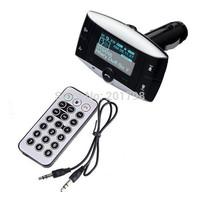 "1.5"" LCD Bluetooth Car Kit Handsfree MP3 Player with Bluetooth FM Transmitter Modulator USB/SD/MMC/TF Support"