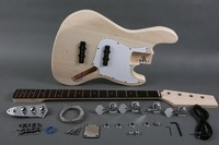 DIY Vintage 4 String JB Style Electric Jazz Bass Kit With Solid Wood Body And Maple Neck Rosewood Fingerboard