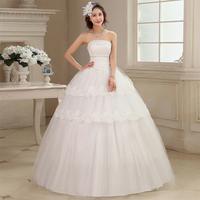The new 2014 han edition lace set auger strapless wedding dress Neat, princess lace wedding dress