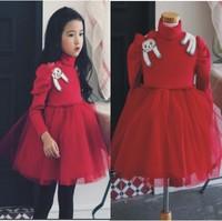 2014 Autumn Winter New Baby Girls Christmas Dress Thickening Non-inverted-velvet Gauze Formal Tutu Dress Wholesale