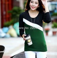 2014 autumn and winter long sleeved t-shirt female Korean women milk silk long sleeve shirt bottoming shirt women crop tops