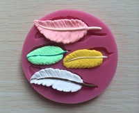 New Food-grade Silicone Mold 3D Fallen Feathers ,Fondant Cake Decorating Tools,silicone soap mold,Silicone Cake Mold-P094
