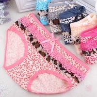 Top sales!!  Sexy women's 100% cotton  Briefs panties Leopard sexy panties