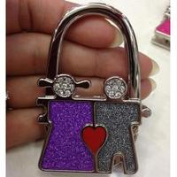 Fashion lovers bag hook lovers Rhinestone Women Handbag Holders Red Heart Purse Hangers Nice Gift For Her
