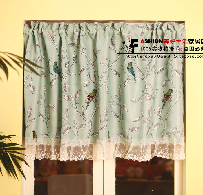 Mint green curtains promotion shop for promotional mint green curtains on - Mint green kitchen curtains ...