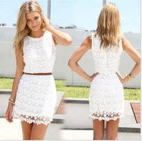 014 Euramerican style sweet slim package hip LACE VEST DRESS bandage mini bodycon dress frozen dress elsa dress