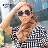 Sphere rex rabbit hair fur scarf winter thermal women's muffler scarf all-match cape