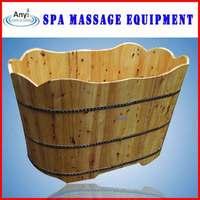 Low price bathtub wooden bathtub with cast iron double slipper bath tub with skirt