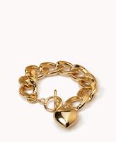 Fashion Jewelry 18K Gold Plated Heart Bracelet Brand Girl Chain & Link Bracelets