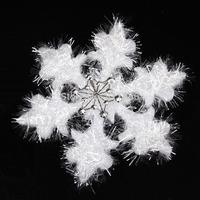 3 pcs 36*36*1cm White Plastic Christmas Snowflake Sheet Ornament Merry Xmas Tree House Decoration-22000568