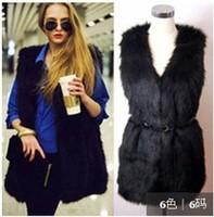 Women Winter Vest Sleeveless Coat  Faux Fur Long Waiscoat Winter Black White Faux Fur Waist Coat Women Sleeveless Jacket W00452