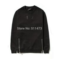 Rare new 2014 european hip hop GIV GVC Dual zipper Men and women 17 pullover in black