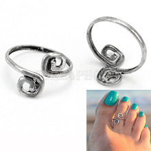 2 Pcs Adjustable Toe Ring Fashion Women Lady Girls Summer Beach Foot Jewelry