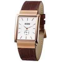 Dom watches men luxury brand Military Quartz Watch business relogio masculino full stainless steel Wristwatch women dress watch