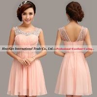 2015 New Brand In Stock Formal Dress Scoop Sequins Party Dresses Waist With Beaded Prom Gown HoozGee 283