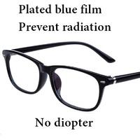 New Prevent Radiation Reading Glasses Brand Women Men Bright Black Computer Working Glasses For Reading UV400