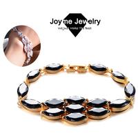 Joyme 2014 Vintage 18k rose gold plated Cubic Zirconia Leaves Bracelets for women chain Bracelet & Bangles Jewelry BR0014