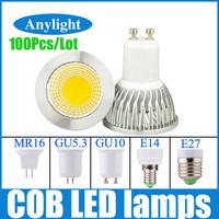 100 pcs/lot 3W/9W GU10/E27/E14/Gu5.3/Mr16 85-265V(110v/220V/230V) CE Warm White/ White High Power LED Lamp/Spot lighting WSP21