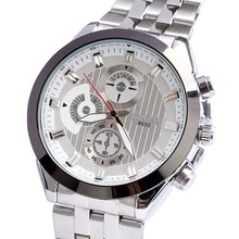 Watch luxury men genuine quartz jewelry Japan movement stainless steel alloy watch drop shipping