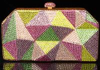 2014 Crystals Evening bag,Women Fashion Hard Case Metal Purses Party Handbags , CB6041-2