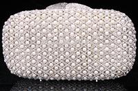 2014 Crystals Evening bag,Women Fashion Hard Case Metal Purses Party Handbags , CB0824-1